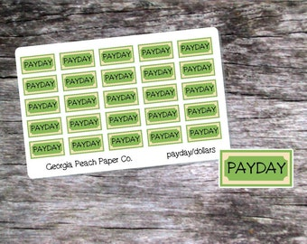 Payday Planner Stickers - Made to fit Vertical or Horizontal Layout