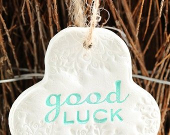 Good luck charm, clay decoration