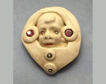 Porcelain Brooch - Puppakino