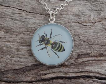 Hand Painted Honey Bee Pendant