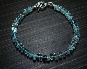 Aquamarine Bracelet-Beryl Bracelet-Aquamarine Gemstone bracelet-natural Aquamarine Bracelets-Gifts for Her-March Birthstone