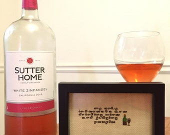 My only interests are drinking wine and judging people cross stitch
