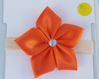 Large Satin Ribbon Flower headband or clip *many colors available*