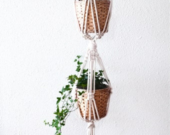 Bangkok - Double suspension for plants in macrame