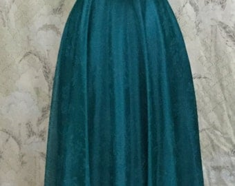 Vintage 1980s Teal Party Dress, TealGown