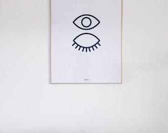 The Couple's Eyes Print