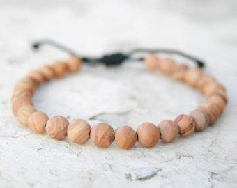 Christmas Gift, Stocking stuff, Men Gift, Couple Gift, Bead Bracelet, Wooden Jasper Bracelet, Energy Jewelry, Healing Bracelet, Zen Bangle,