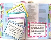 DIGITAL DOWNLOAD Series #1 Scripture Memory Cards: Hope (20 Count), Bible Journaling Cards, Bible Verse Cards (Standard License)