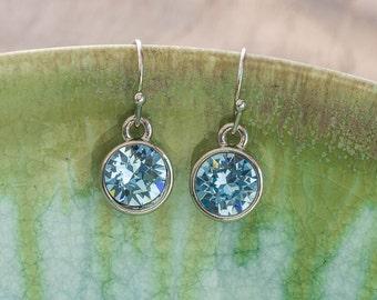 LUMEN Petite Earrings - Silver + Blue