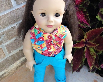 18 Inch Doll Detailed Jeans and Blouse