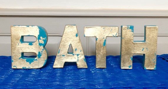 bath letters home decor bathroom decoration by