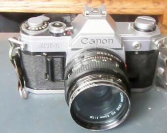 old Camera Canon AT-1 35mm FD-mount SLR film camera vintage 35mm cameras