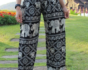 hippie pants hobo pants harem pants elephant pants in Black