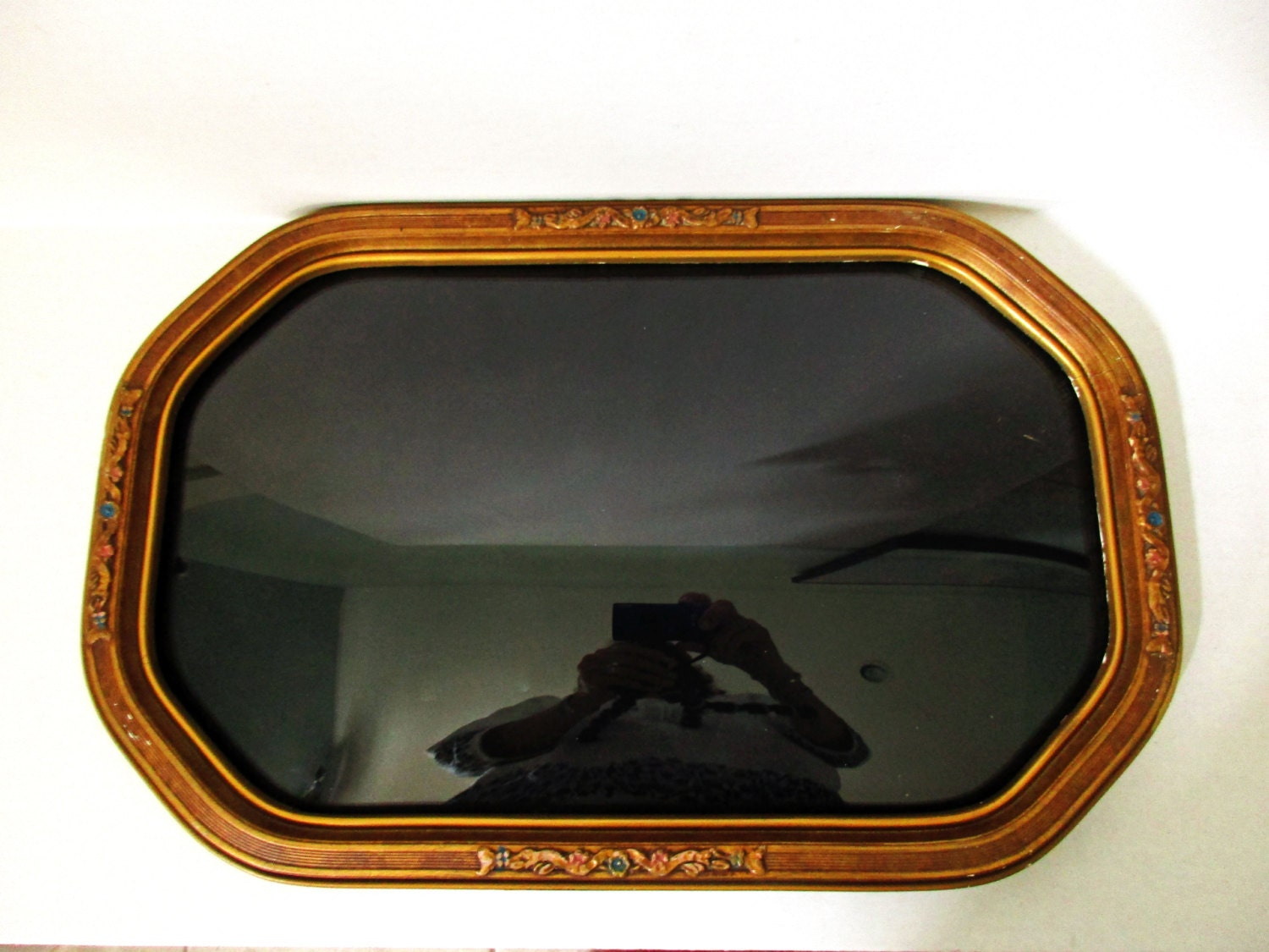 Antique wood gesso convex bubble glass victorian frame curved sold by alotoflifeandlove jeuxipadfo Image collections