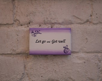 Get well wooden plaque // Get well wishes gift //