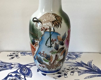 Hand Painted Stork Etsy