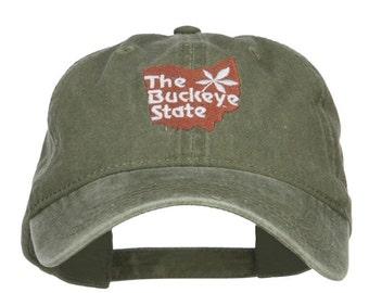 Ohio Buckeye State Embroidered Cap