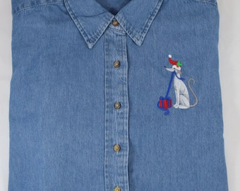 Christmas Denim Shirt