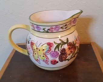 floral pitcher made by world bazars/floral pitcher/pitcher/butterfly pitcher