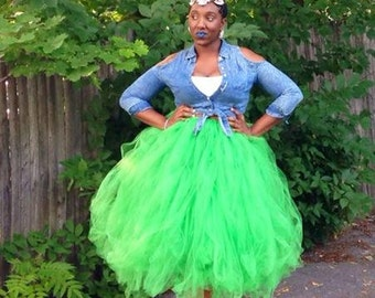 Beau TUTU ful tutu in apple green ready for a party or special event