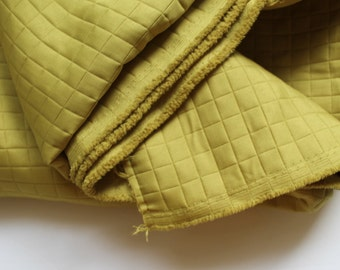 Quilted fabric chartreuse/ Green