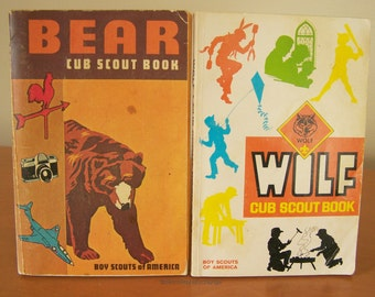 Vintage Cub Scout Handbook Pack – 1973 Bear Cub Scout Book and 1978 Wolf Cub Scout Book