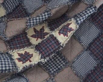 Handmade Homespun Rag Quilt
