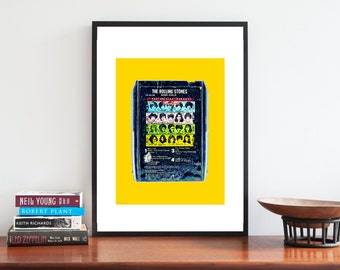 The Rolling Stones | Music Poster | Album Art Print | IIIustration Art Print | Band Poster | Music Lover Gift | Vintage Retro Pop Art