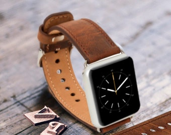 Mens Gift for Men Personalized Boyfriend Gift Husband Gift Apple Watch Band Fathers day Gift  Dad Gift Leather Watch Band Apple Watch Strap