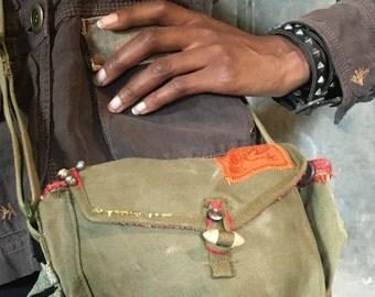 Boho military bag
