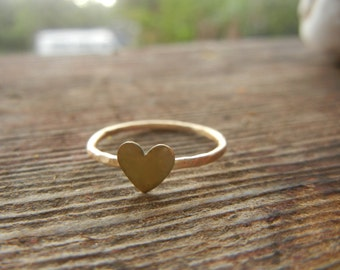 Dainty Heart Ring, Midi Ring, Stacking Rings, Stacked Rings, Delicate