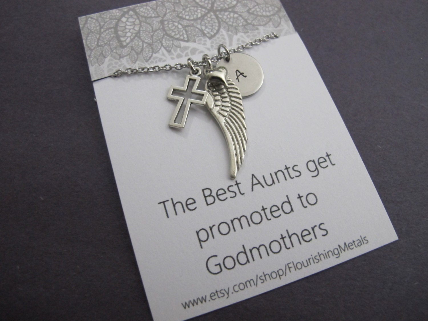 Gift For Godmother Godmother Gift Mothers Day Gift: Godmother Gift Baptism Gifts CommunionGift For Aunt