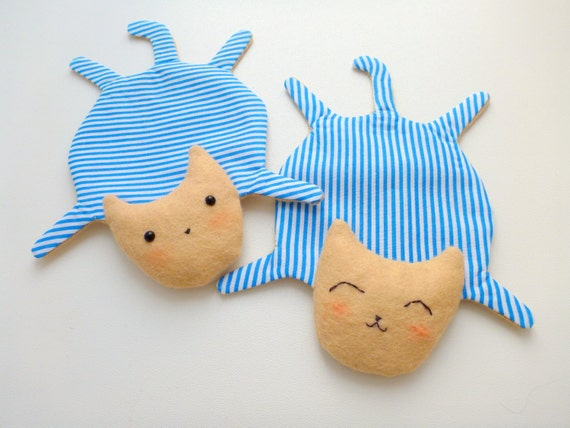 Cute Cat Fabric Coasters For Cups Set Of 2