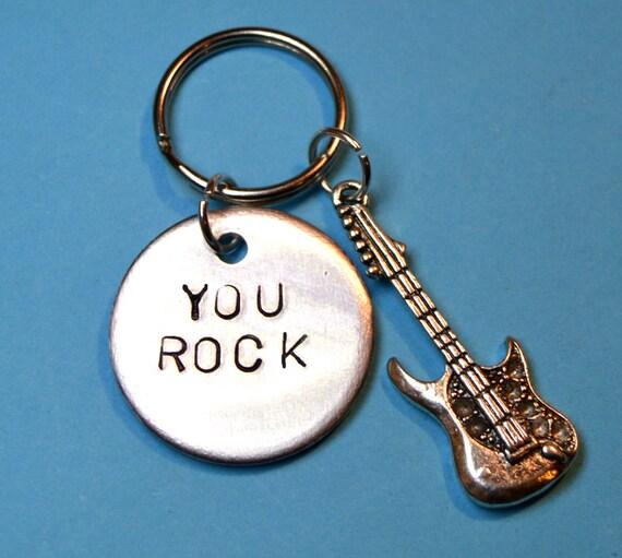 guitarist keyring - gift