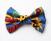 Super Hero Comic Dog Bow Tie