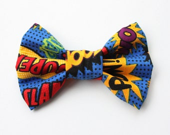 Super Hero Comic Dog Bow Tie