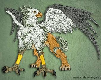 Fantastic griffon embroidery design