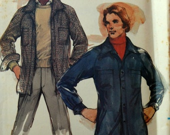 Uncut 1970s Butterick Vintage Sewing Pattern 3509, Size M; Men's Jacket