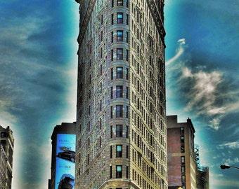 Canvas, Flatiron Building, aluminium, Forex