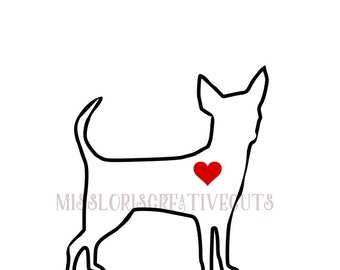 Chihuahua Love 3 SVG   cut file  t-shirts  Dog car decalscrapbook vinyl decal wood sign cricut cameo Commercial use