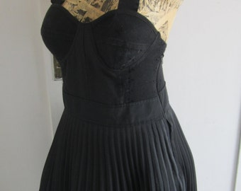 90s corset dress with pleated skirt size 36 or 38 EU