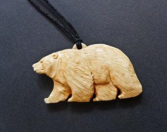 Bear Necklace Animal Jewelry Brown Bear Pendant Bone Necklace taxidermy Bone Jewelry Animal Necklaces animal skulls handcrafted jewelry