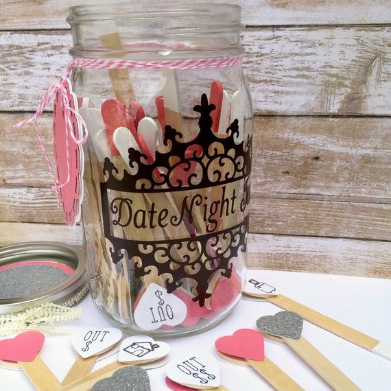 Date Night Gift For Wedding : Date Night JarDate Night IdeasWedding Reception AdviceWedding ...