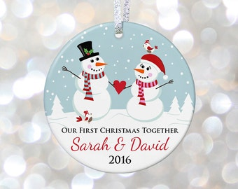 Boyfriend Christmas Gift First Christmas Together Ornament