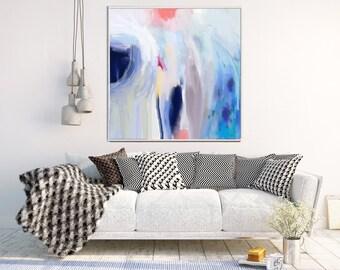 Abstract Wall Art, Blue Abstract Print, Abstract Art Print, Home Decor, Wall Decor, Modern Art, Giclee Print, Canvas Print, Contemporary Art