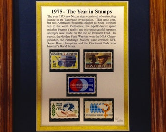 1975- The Year in Stamps Gift & Collectible