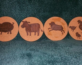 Farm Animal Coasters