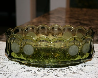 Fostoria Oval Dish//Coin Pattern Fostoria Dish//Vintage Fostoria Dish