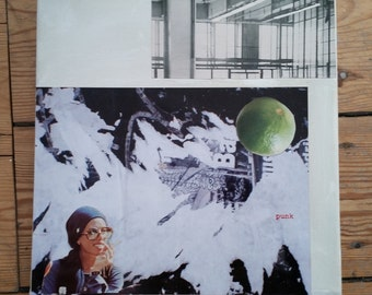 Collage on canvas, 30 x 30xm