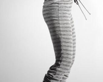 Loose Knit Ballet Lounge Pants / leggings/with drawstring  in Grey, Purple, or Orange